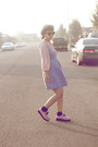 Pink-creeps-skechers-shoes-houndstooth-dress