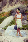 Ivory-sugarlips-dress-navy-coach-bag-brown-floral-print-target-sunglasses
