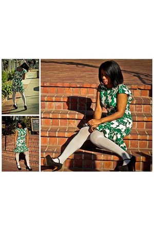 green You Like It I Made It dress - ivory tights Target tights