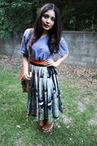 vintage leather bag - skirt