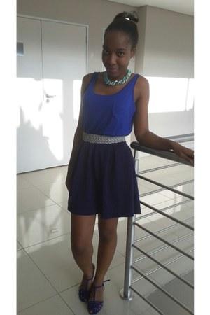 blue blue skirt skirt - silver Topshop belt