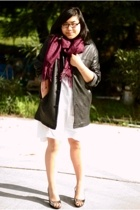 unknown brand scarf - Kenneth Cole jacket - Target dress - Forever21 top - Bando