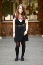 H&M dress - vintage belt - vintage scarf