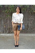 Snoozer Loser blouse - thrifted vintage bag - Forever 21 shorts - thrifted belt