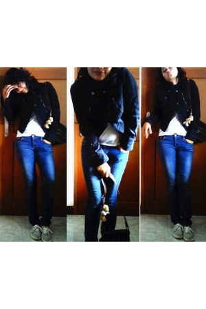Topshop jacket - shirt - Levis jeans - Topshop shoes - Zara accessories - unicef