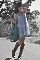 no brand boots - lace dress free people dress - slip Urban Outfitters intimate