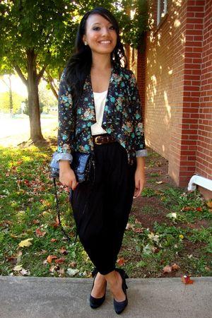 black Charlotte Russe blazer - black Charlotte Russe pants