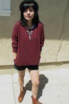 Target sweater - vintage boots - BDG shorts