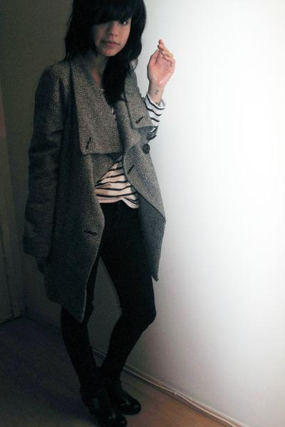 gray Metropark coat - black Kill City jeans - white H&M shirt