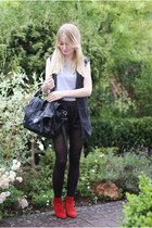 black ps1 like Ebay bag - ruby red vintage from Ebay boots - silver COS shirt