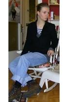 thrifted blazer - Zara sweater - Levis jeans - H&M t-shirt - Lowa boots