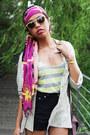 Metallic-ezzentric-topz-vintage-shirt-head-sportsgirl-scarf