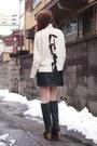 Black-nadesico-boots-black-feather-coat-velnica-coat-white-sacra-sweater