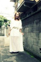 white American Apparel jumper - white ozoc skirt