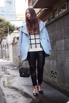 light blue wool Made in Heaven coat