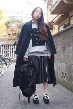navy GVGV coat - black LORINZA bag - black ann-sofie back skirt
