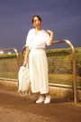 White-jbradley-madison-blue-shirt-white-knapsack-emoda-bag-white-emoda-pants