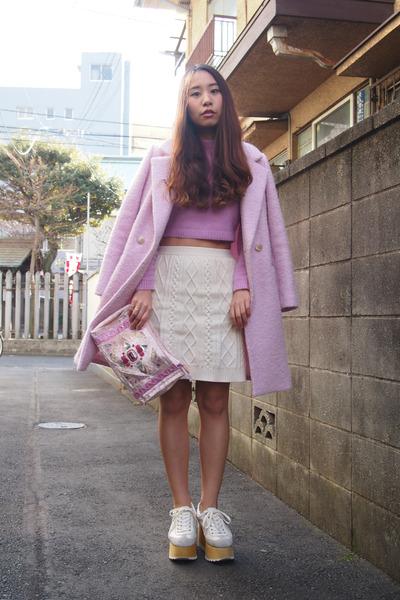 pink Kaon coat - light pink bijou Another Edition bag