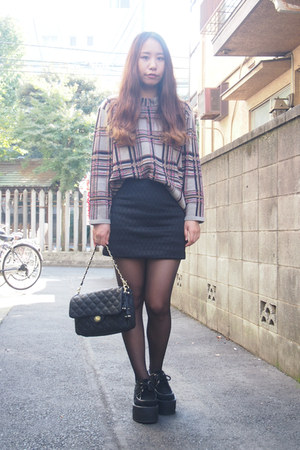 black quilted skirt GVGV skirt - black KUTSUSHITAYA tights