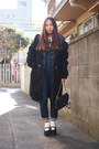 Black-purple-end-coat-navy-salopette-beauty-youth-united-arrows-jeans