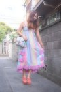 Sky-blue-rainbow-dress-nadesico-dress-light-purple-nomine-bag
