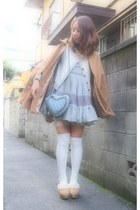 periwinkle heart bag Frees shop bag - heather gray nadesico dress
