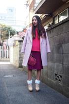 pink pink boyfriend Kaon coat - coral lace vintage bag