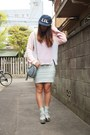 Silver-murua-shoes-navy-lil-cap-lillilly-hat-light-pink-labyrinth-sweater