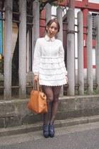 tawny leather bag Fendi bag - white nadesico dress