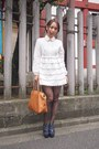 White-nadesico-dress-tawny-leather-bag-fendi-bag