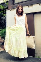 yellow nadesico skirt - white American Apparel blouse