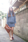 Brown-dholic-bag-tan-vans-flats-navy-cher-skirt-navy-cher-top