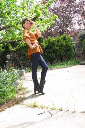 Forever 21 boots - Forever 21 jeans - Forever 21 belt - shishangqiyi top - Forev