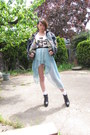 Navy-vintage-jacket-white-socks-sky-blue-no-brand-skirt-white-no-brand-t-s