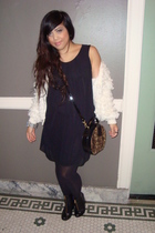 vintage jacket - Nasty Gal dress - vintage purse - H&M shoes