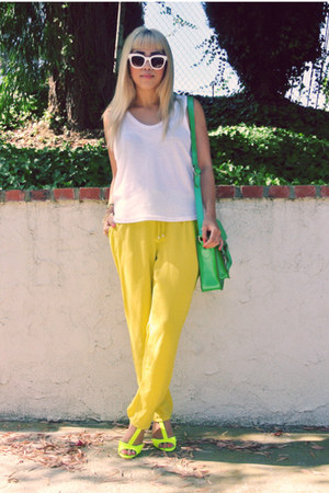 t by alexander wang shirt - Celine sunglasses - H&amp;M pants - Zara heels