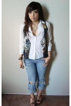 Ralph Lauren shirt - Urban Renewal vest - abercrombie and fitch jeans - Aldo sho