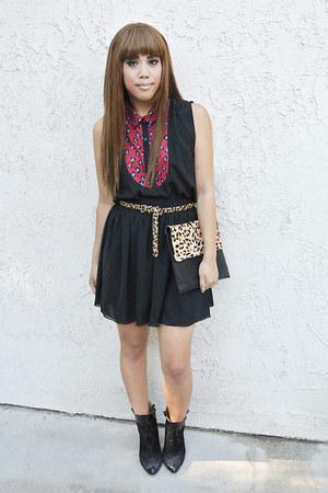 Zara boots - Native Runaway bag - American Apparel skirt - corperative blouse