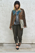 UNIF jacket - Lily White blouse - Rachel Zoe heels