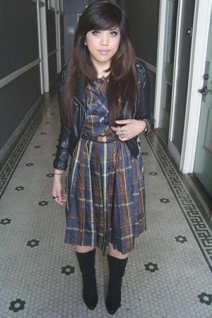 H&M jacket - AMERICAN VINTAGE dress - vintage dior belt - vintage from jetrag bo