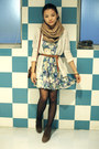 Ivory-urban-outfitters-cardigan-sky-blue-asos-dress-brown-zara-belt-dark-b