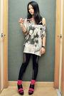 Black-asos-stockings-black-carolinna-espinosa-shoes-white-asos-t-shirt-bei