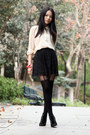Pink-kimchi-blue-blazer-nude-monki-shirt-black-topshop-tights-dark-brown-d