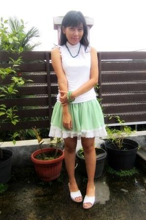 white sleeveless top Zara top - lime green tunic AHAISHOPPING top