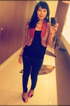 Batik cardigan - Zara jeans - chicnova necklace