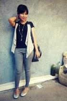 black ciciero bag - silver Payless flats
