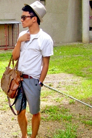YVES shirt - LAWMAN shorts - Dickies belt - SM hat