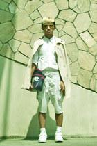 Yves Identify jacket - buttoned Ralph Lauren shirt - overlap dhoti -x shorts