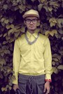 Silver-necklace-accessories-light-yellow-long-sleeved-h-m-shirt