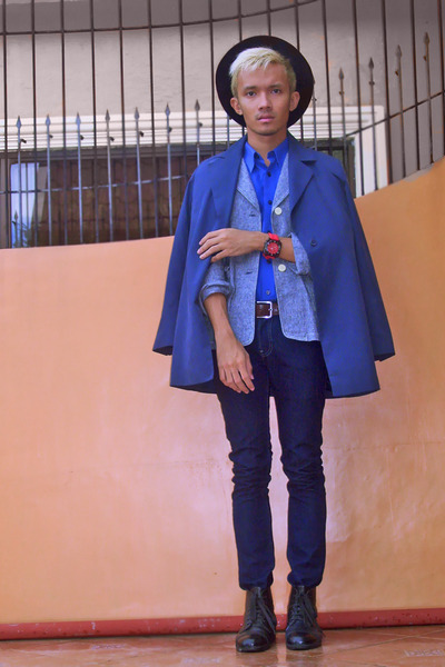 blue g2000 shirt - navy Cheifer Paris coat - heather gray MICHEL SUU blazer